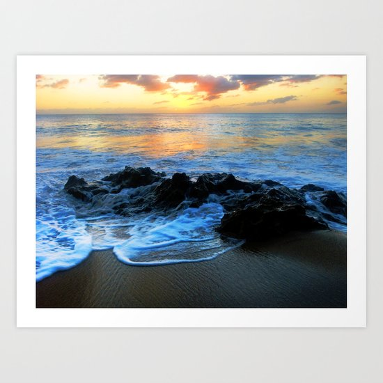 Sunset @ Rincon Art Print
