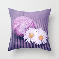 daisies Throw Pillows featuring DAISIES by INA FineArt
