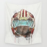 pilot Wall Tapestries featuring x wing pilot by bri.buckley