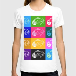 Rainbow chameleon drawing, with rainbow colors T-shirt