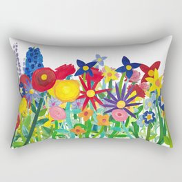 Flowery Bouquet Rectangular Pillow