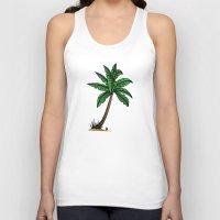 palm tree Tank Tops featuring palm tree by Li-Bro