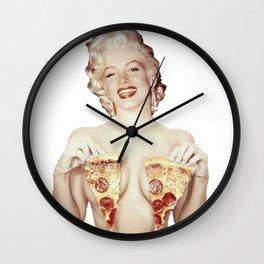 Marilyn- Pizza Wall Clock