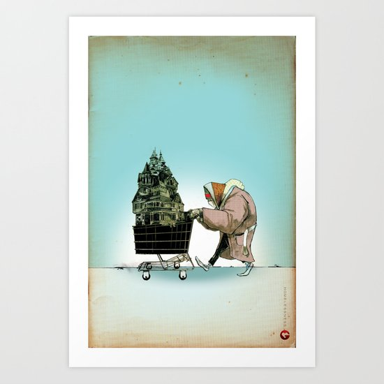 "Glue Network Print Series ""Homelessness"" Art Print"