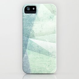 Frozen Geometry - Teal & Turquoise iPhone Case