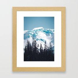 The Blue Framed Art Print