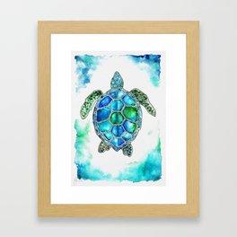 turtle in watercolors Framed Art Print