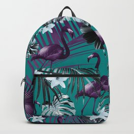 Tropical Flamingo Flower Jungle #6 #tropical #decor #art #society6 Backpack