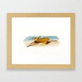 Shore Time, rowboat, boat, seashore, beach Framed Art Print