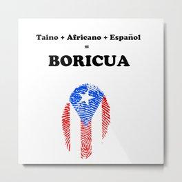 Puerto rico- Boricua Metal Print