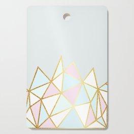 Gold & Pastel Geometric Pattern Cutting Board