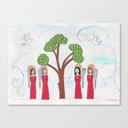 Angels Praying 2 Canvas Print
