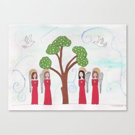 Angels Praying 2 Canvas Print