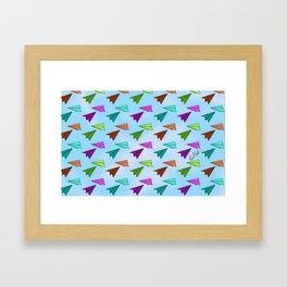 Paper Fliers Framed Art Print