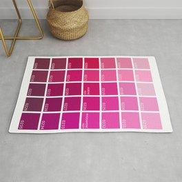 Shades of Pink Pantone Rug