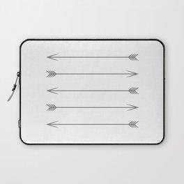 Minimal Dark Gray Arrows Laptop Sleeve