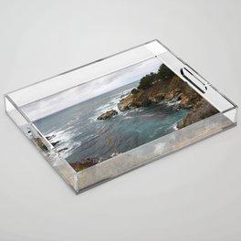 California Coastline Acrylic Tray