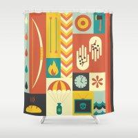 katniss Shower Curtains featuring Katniss by Ariel Wilson