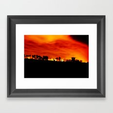 HB Blaze Framed Art Print