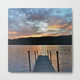 Greet the Adirondack Autumn Sun Metal Print