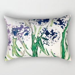 abstract flowers on the meadow Rectangular Pillow
