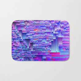 Squiffy Glitches - An Abstract Bath Mat