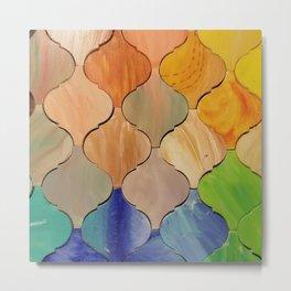 Mosaic lantern tiles Metal Print