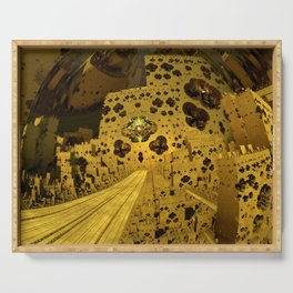 City of Golden Dust Serving Tray
