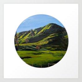 Waikato Hills Art Print