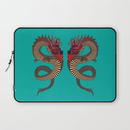 DRAGON INK turquoise Laptop Sleeve