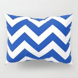 International Klein Blue - blue color -  Zigzag Chevron Pattern Pillow Sham