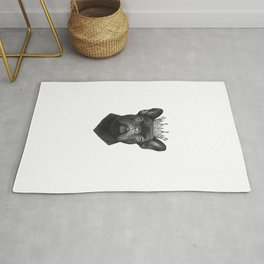 King french bulldog Rug