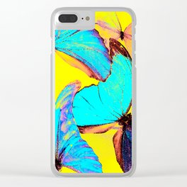 Shiny and colorful butterflies #decor #buyart #society6 Clear iPhone Case