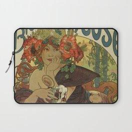 Alfons Mucha art nouveau beer ad Laptop Sleeve