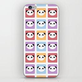 Kawaii Panda Pop Pattern iPhone Skin