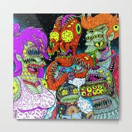 Future Monsters Metal Print