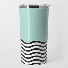Waves of Green Travel Mug