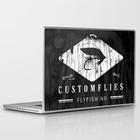 custom Laptop & iPad Skins featuring Custom Flies by Kristian Boserup