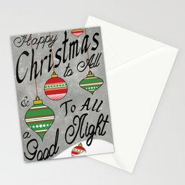Christmas Typography Poster Stationery Cards