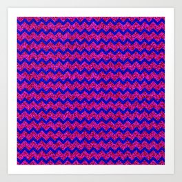 Chevron Glitter Pattern 02 Art Print
