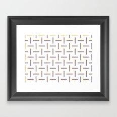 Berry Maze Framed Art Print