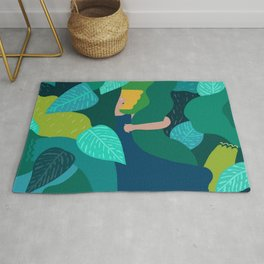 Diving into the Greenery Rug
