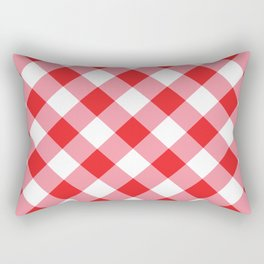 Gingham - Red Rectangular Pillow