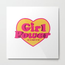 Girl Power Logo Metal Print