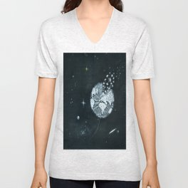 Blowing in Space Unisex V-Neck