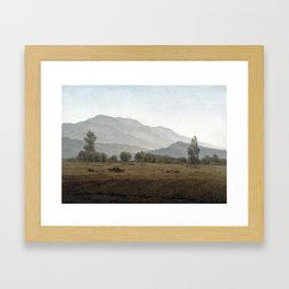 Caspar David Friedrich New Moon above the Riesengebirge Mountains Framed Art Print