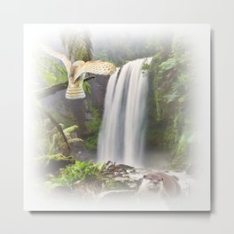 Woodland Falls Metal Print