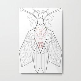 Dark side of the bug /digital art drawing Metal Print