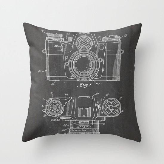 Camera Patent - Photography Art - Black Chalkboard by patentpress