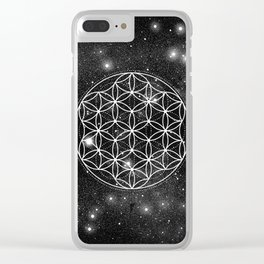 Flower Of Life 004 Clear iPhone Case